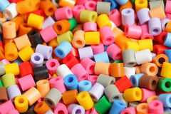 Colourful plastic pearls Royalty Free Stock Images