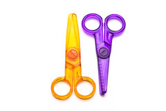 Colourful Plastic Scissors Stock Photos