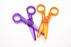 Colourful Plastic Scissors Royalty Free Stock Image