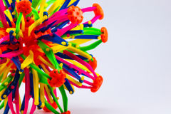 Colourful of plastic toy Stock Photos