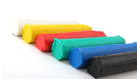 Colourful plasticine pieces Stock Photo
