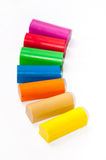 Colourful plasticine on a white background Stock Image