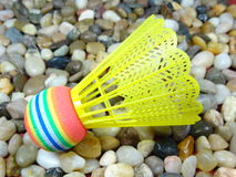 Colourful plastikowy shuttlecock Fotografia Royalty Free