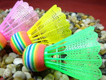 Colourful plastikowy shuttlecock Obrazy Stock