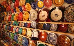 Colourful plates Stock Photo