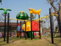 Colourful playground for happiness kid times Royalty Free Stock Image