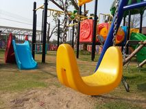 Colourful playground for happiness kid times Royalty Free Stock Photo