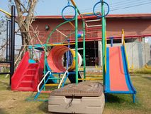 Colourful playground for happiness kid times Royalty Free Stock Photos