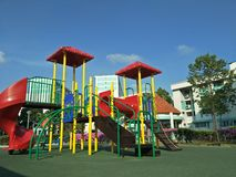 Colourful Playground in a Housing Estate royalty free stock images