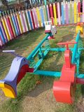 Colourful playground for kid Stock Images