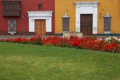 Colourful Plaza de Armas στο Περού Στοκ εικόνα με δικαίωμα ελεύθερης χρήσης