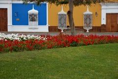 Colourful Plaza de Armas στο Περού Στοκ Εικόνες