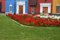 Colourful Plaza de Armas in Peru Royalty Free Stock Photography