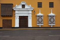 Colourful Plaza de Armas in Peru Royalty Free Stock Photos