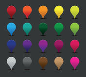 Colourful pointer signs Stock Photos