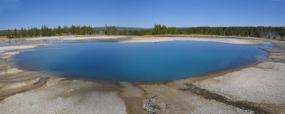 Colourful pool in Yellowstone Stock Photos
