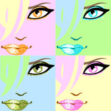 Colourful pop-art poster. Vector illustration Stock Photos
