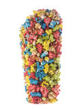 Colourful Popcorn Isolated Royalty Free Stock Photos