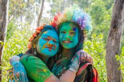Free Colourful Portraits During Holi Celebration Stock Photos - 198594733