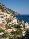 Colourful Positano, the jewel of the Amalfi Coast,. Colourful Posi, the jewel of the Amalfi Coast, with its multicoloured homes and buildings perched on a large Stock Images