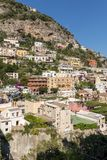 Colourful Positano, the jewel of the Amalfi Coast,. With its multicoloured homes and buildings perched on a large hill overlooking the sea. Italy Royalty Free Stock Image
