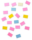 Colourful post-it Royalty Free Stock Photos