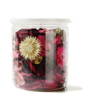 Colourful Potpourri in Plastic Container Royalty Free Stock Images