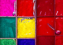 Colourful powder paint Stock Photo