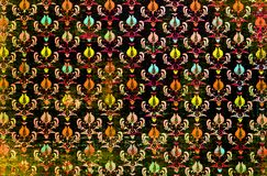 Colourful powtórka wzoru adamaszka tapeta Obraz Royalty Free