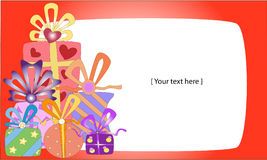 Colourful present box frame. Colourful present box for e-card or else Stock Images