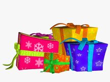 Colourful Presents Royalty Free Stock Photo