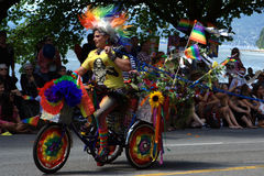 Colourful Pride, Vancouver Pride Parade Stock Photos