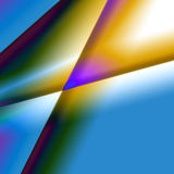 Colourful Prism Abstract Background. Graphic With Multiple Colours: Blue, Yellow, Green Stock Photography