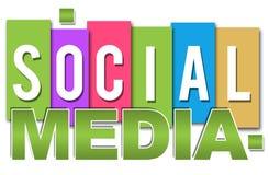 Colourful professionale di media sociali illustrazione di stock