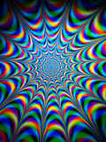 Colourful psychedelic pattern. Colourful psychedelic background and texture pattern Stock Photography
