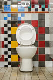 The colourful public toilets Royalty Free Stock Photo