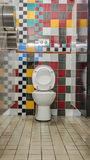 The colourful public toilets Royalty Free Stock Images