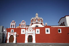 Colourful Puebla. Colourful Rosary Chapel in Puebla Stock Image
