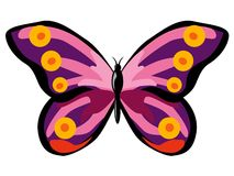 Colourful Purple Butterfly Stock Photo