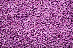 Colourful purple gravel Royalty Free Stock Images