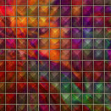 Colourful pyramids Royalty Free Stock Image