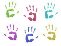 Colourful ręka druki Fotografia Royalty Free