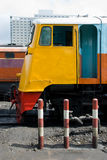 Colourful railway locomotives Royalty Free Stock Photo