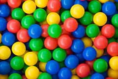 Colourful rainbow coloured balls Royalty Free Stock Photos