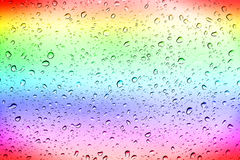 Colourful Rainbow waterdrops Stock Photo