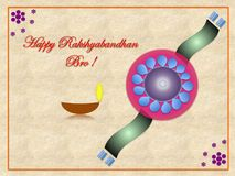 A colourful Rakhi. Colourful Rakhi-symbol of love between brother and sister, celebrate widely among Hindus around the globe Royalty Free Stock Photography