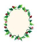 Colourful rama komponująca róże Zdjęcia Royalty Free