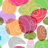 Colourful Random Circles Background. A texture of colourful round elements on white background royalty free illustration