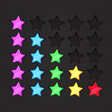 Colourful rating stars on diamond texture Royalty Free Stock Photo