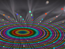 Colourful  rays emerging in spirals patterns Royalty Free Stock Photos